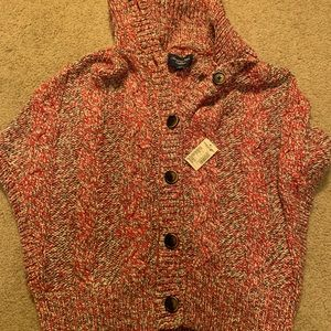 American Eagle button up sweater